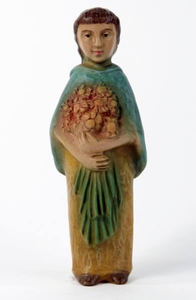 Gelenberg-Krippe - Mädchen mit Blumen - 18 cm