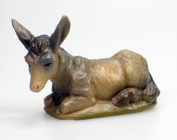 Künstler-Krippe - Esel liegend