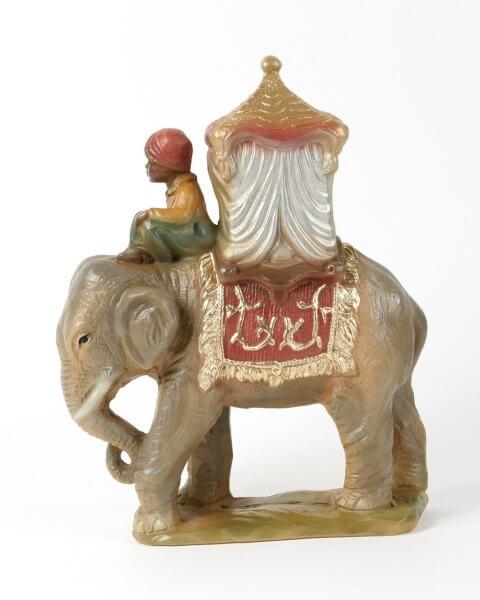 Künstler-Krippe - Elefant m. Reiter