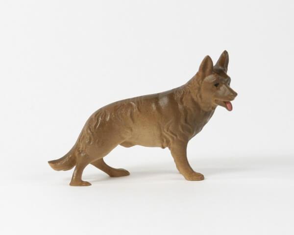 Künstler-Krippe - Schäferhund stehend