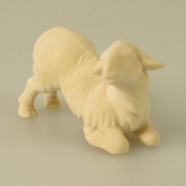 Heiland-Krippe - Lamm kniend