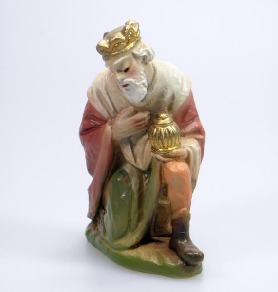 Künstler-Krippe - König kniend