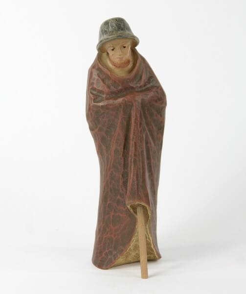 Gelenberg-Krippe - Hirt mit Stock - 18 cm