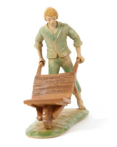 Tiroler-Krippe - Junge mit Schubkarre