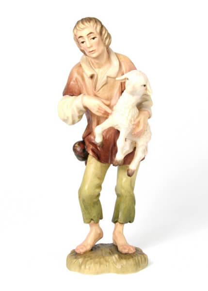 Bacher-Krippe - Hirte mit Schaf