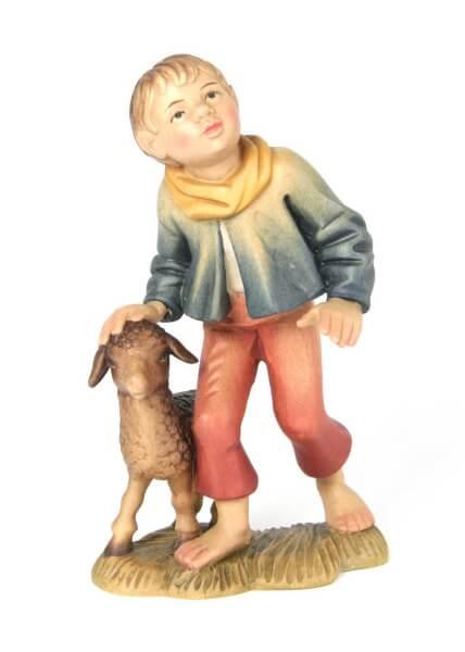 Bacher-Krippe - Hirtenjunge mit Schaf