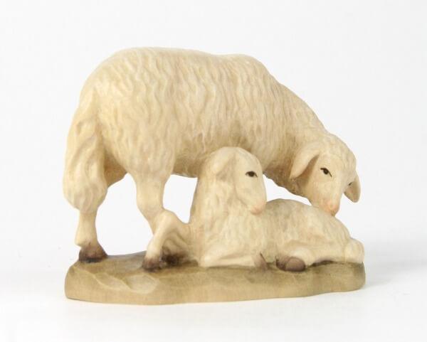 Karl-Kuolt-Krippe - Schaf mit Lamm