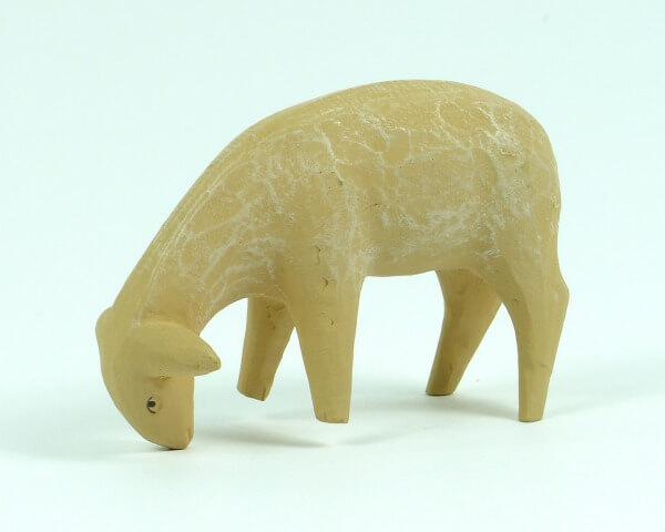 Gelenberg-Krippe - Schaf stehend, fressend - 18 cm