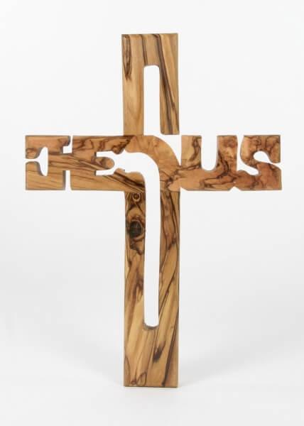 Holzkreuz - Olive & Jesus