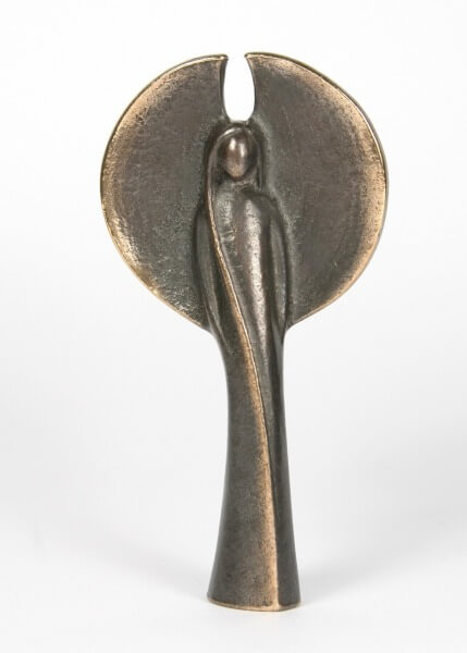 Bronzefigur - Engel Groß & Runde Flügel