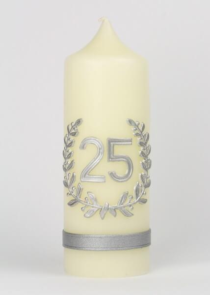 Kerze - Silber 25