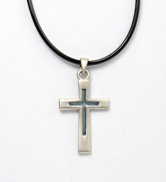 Halskette - Kreuz & Farbig
