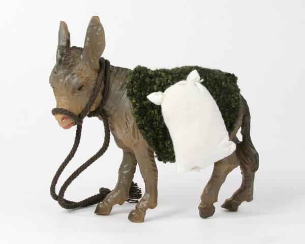 Ruco-Krippe - Esel stehend mit Gepäck