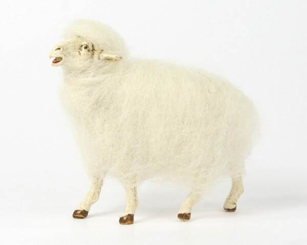 Ruco-Krippe - Wollschaf stehend links