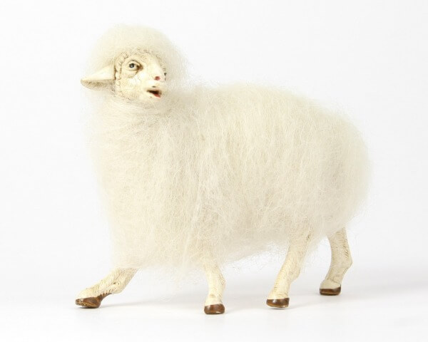 Ruco-Krippe - Wollschaf stehend schauend