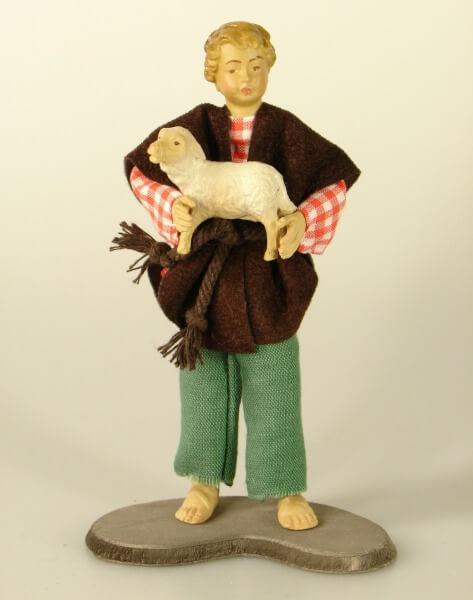 Ruco-Krippe - Bub mit Lamm