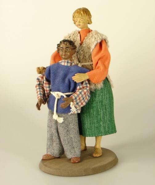 Ruco-Krippe - Kinderpaar stehend