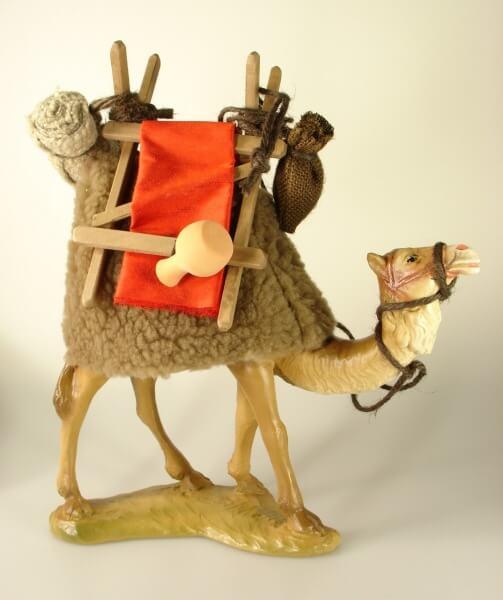 Ruco-Krippe - Kamel stehend mit Gepäck