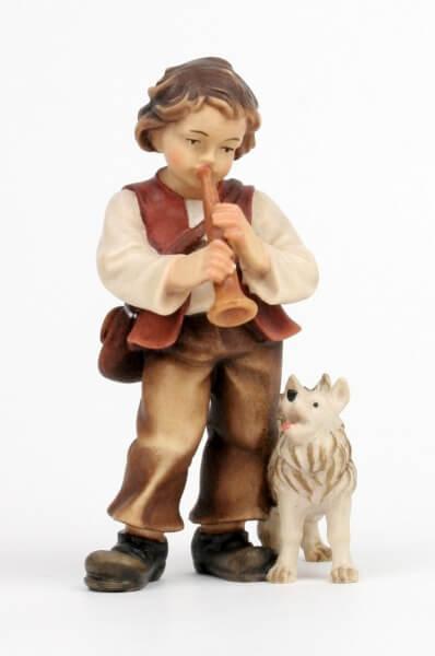 Kostner-Krippe - Bub mit Hund