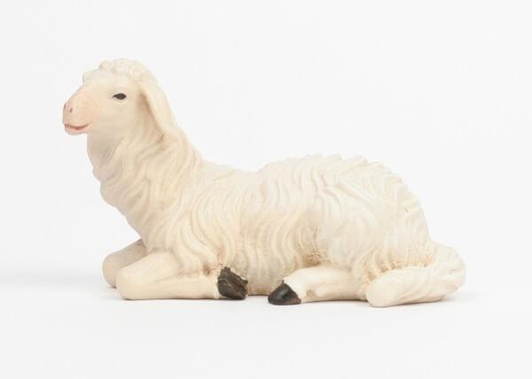Kostner-Krippe - Schaf liegend linksschauend