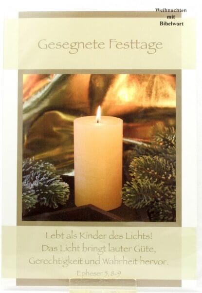 Weihnachtskarte - Kinder des Lichts