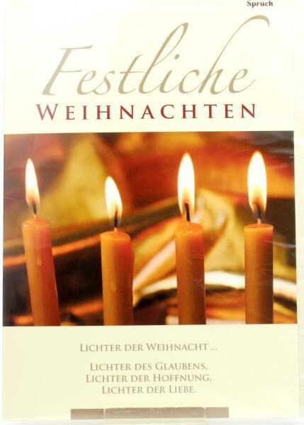 Weihnachtskarte - Lichter der Liebe