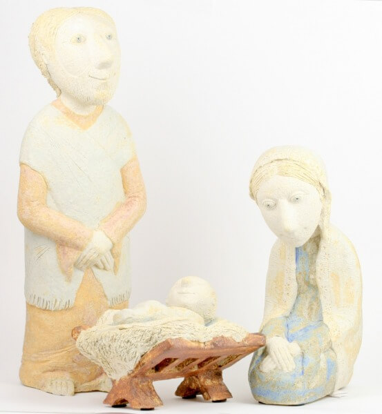 Krippe - Schamotte-Ton & 35 cm