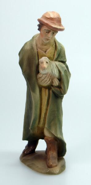 Bethlehem-Krippe - Hirt mit Hut und Schaf