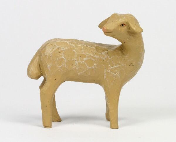 Gelenberg-Krippe - Schaf stehend umschauend - 18 cm