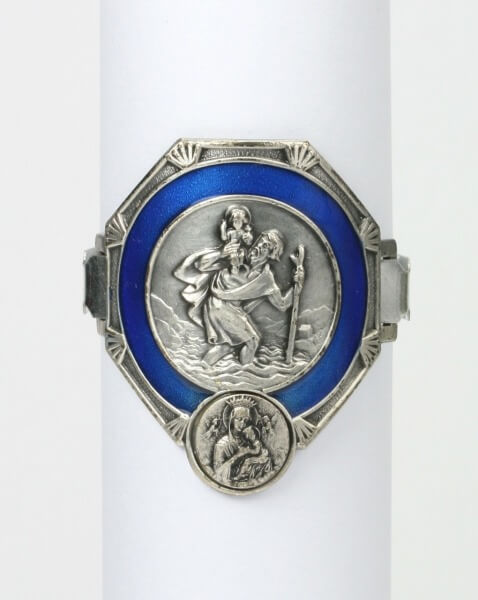 Christophorus - Fahrrad & Blau