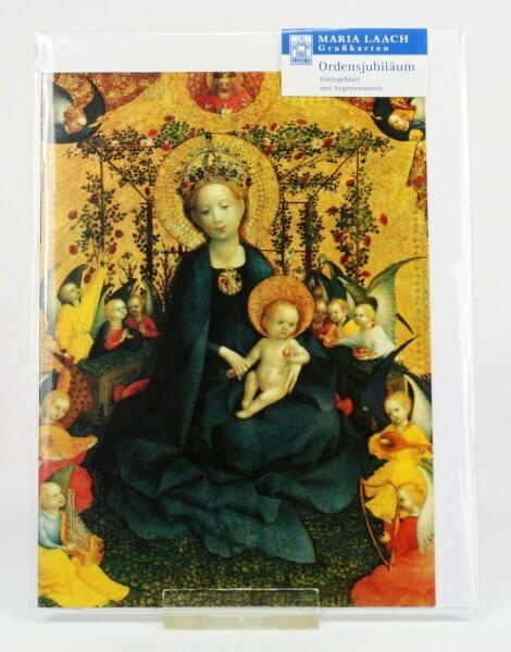 Karte zum Ordensjubiläum - Maria im Rosenhag