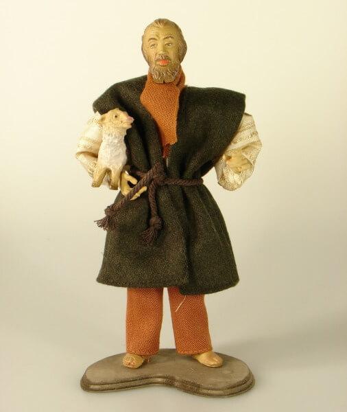 Ruco-Krippe - Hirt mit Schaf unter Arm