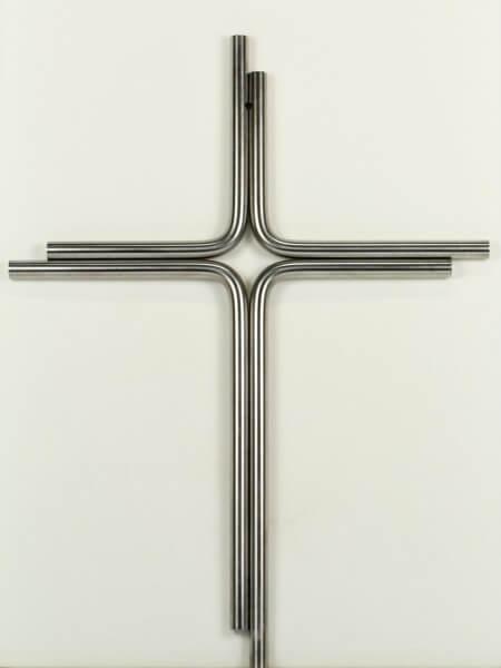 Edelstahl-Kreuz - Zwei Streifen