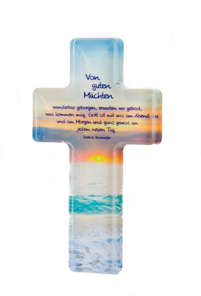 Acrylglas-Kreuz - Von guten Mächten