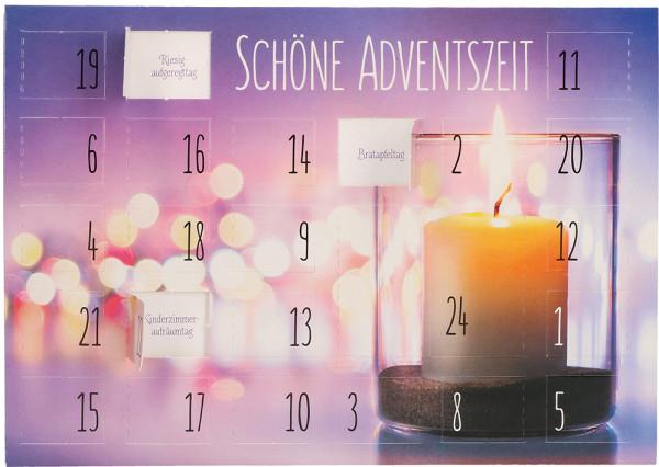 Adventskarte - Adventskalender & Schöne Adventszeit
