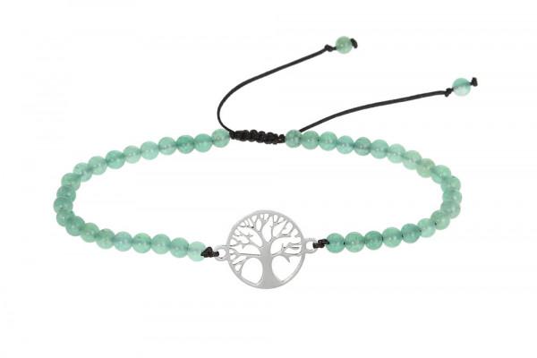 Armband - grüner Achat & Lebensbaum