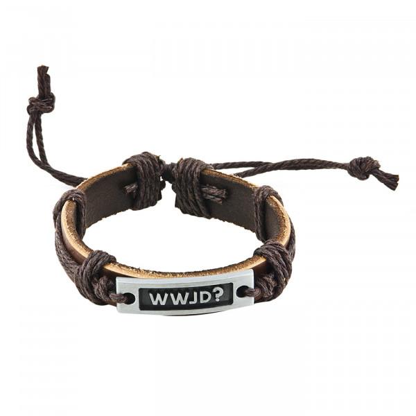 Armband - Leder & WWJD
