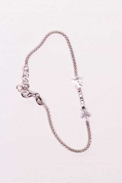 Armband - Silber & 2 Engel