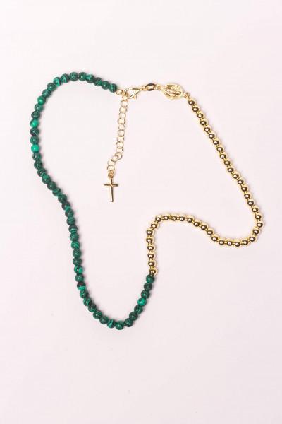 Armband - Wickelarmband & Malachit