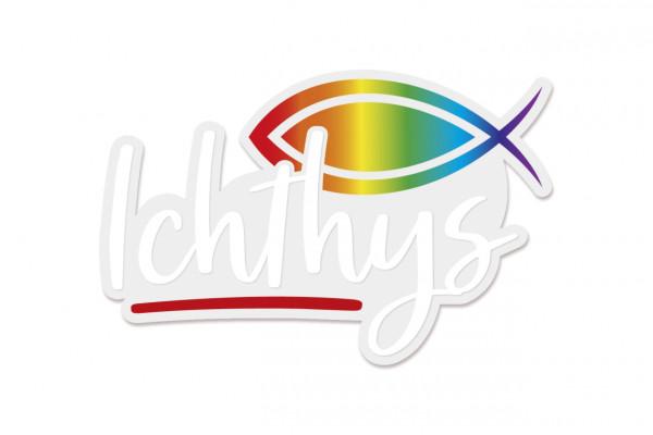 Aufkleber - Fisch & Ichthys
