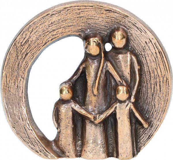 Bronzefigur -Familie