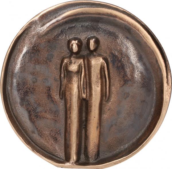 Bronzerelief - Paar