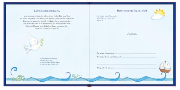 Erinnerungsalbum - Meine Kommunion & Christliche Symbole Blau