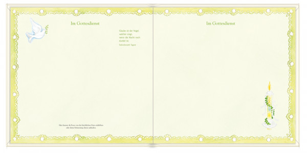 Erinnerungsalbum - Meine Kommunion & Christliche Symbole Weiß