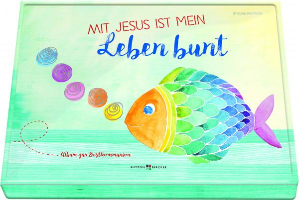 Erinnerungsalbum zur Erstkommunion - Mit Jesus ist mein Leben bunt