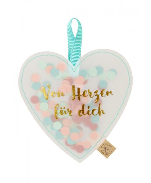 Geschenkanhänger - Konfetti-Herz