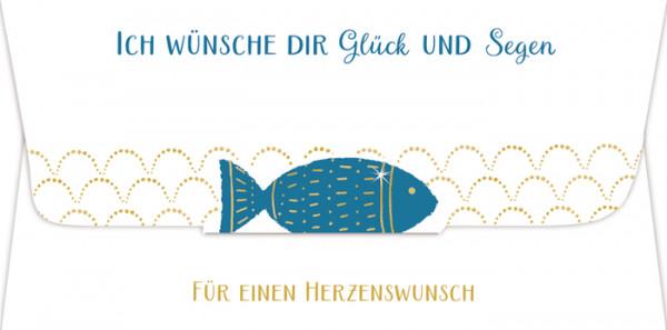 Geschenkkarte - Fisch und Gutscheingeschenk