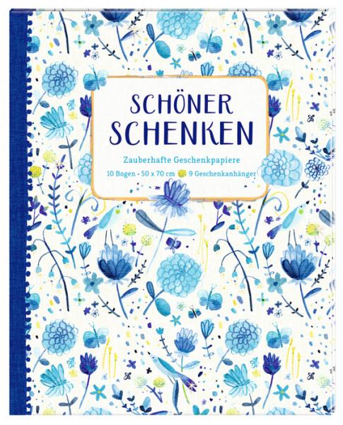 Geschenkpapier-Buch - All about blue