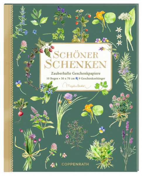 Geschenkpapier-Buch - Kräuter & Blumen