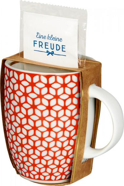 Geschenkset Tasse mit Tee - Eine kleine Freude & Rote ...